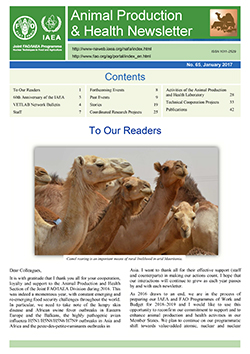 Animal Production & Health Newsletter No. 65 Jan 2017 Cover Image