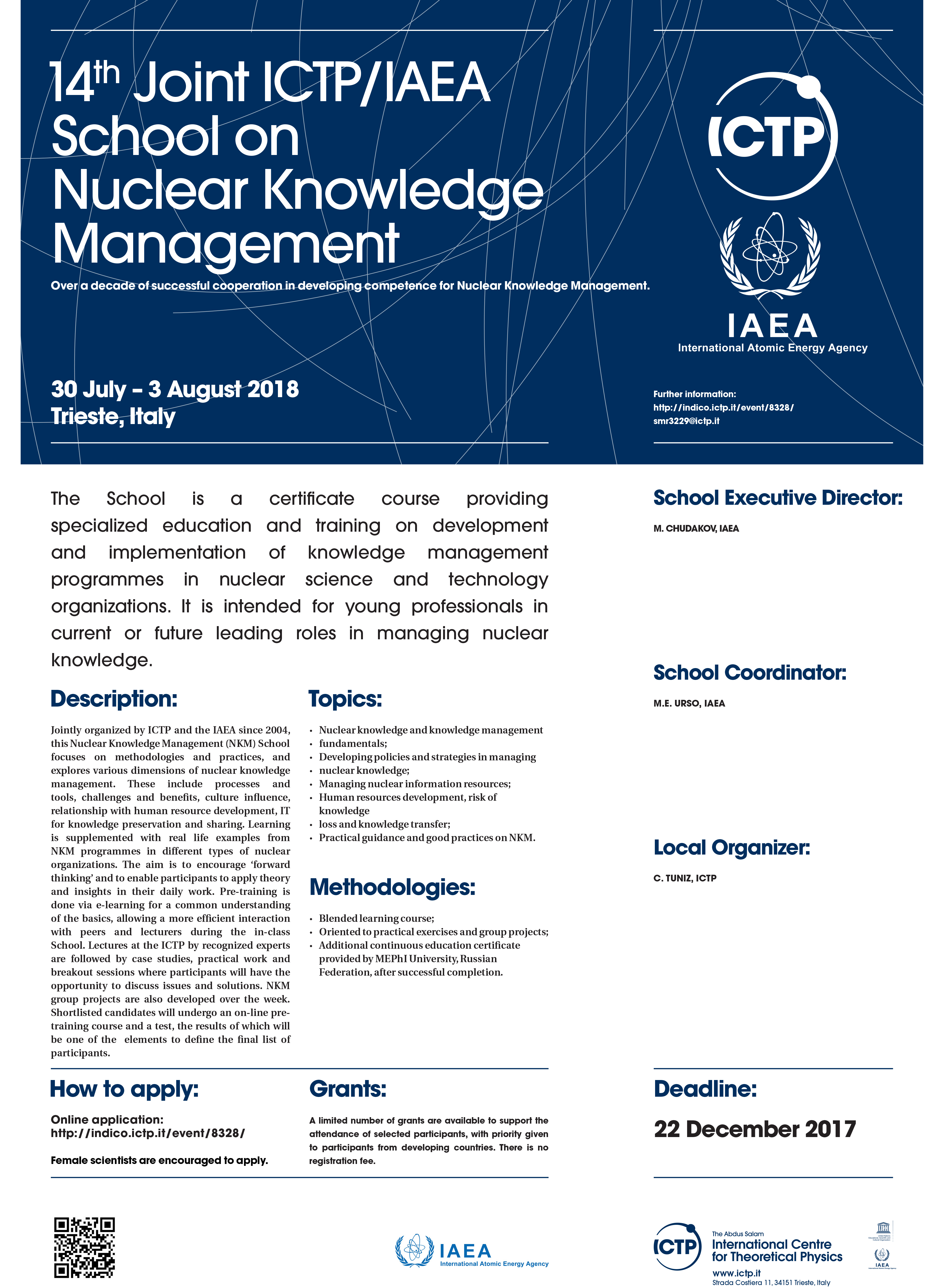 Joint ICTP IAEA School On Nuclear Knowledge Management 2018