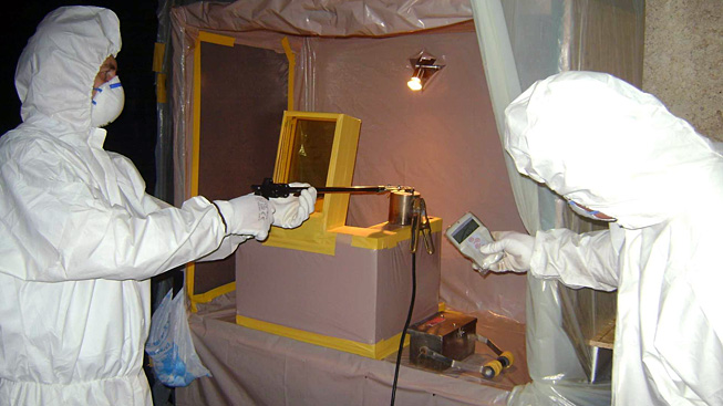 Verifying radioactivity level of a capsule containing conditioned caesium-137 sources