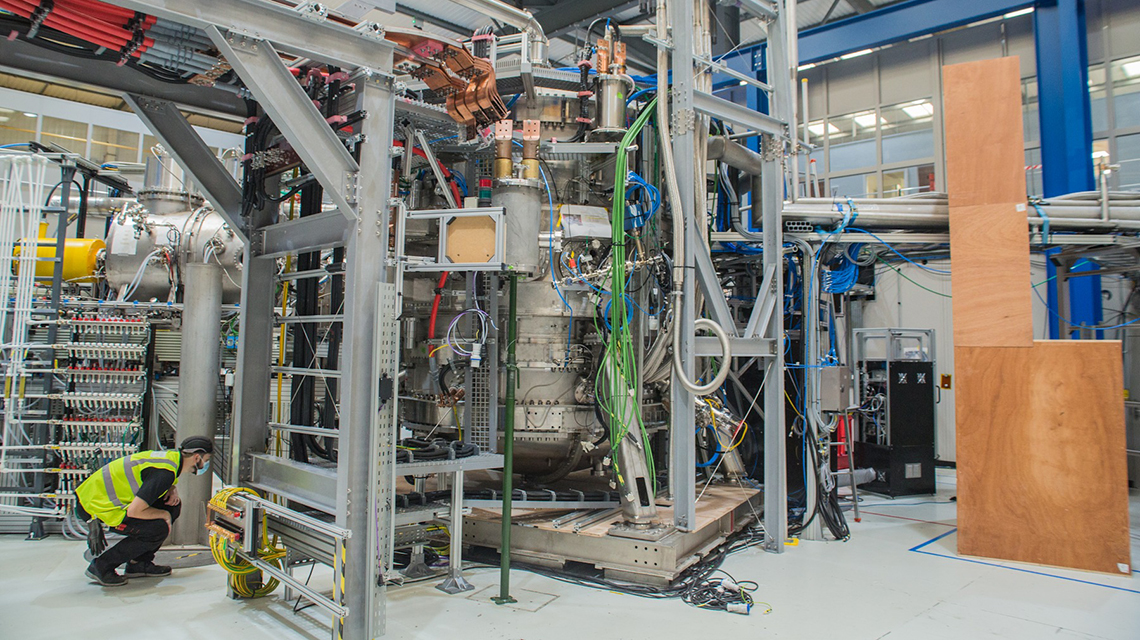 The ST40 tokamak, built and operated by private company Tokamak Energy. October 2020