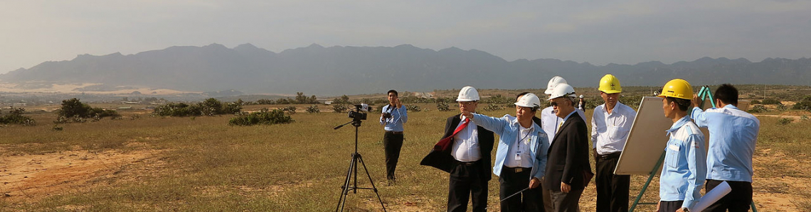 IAEA Director General Yukiya Amano during an on-site visit to the proposed location for Vietnam's first nuclear power reactor in Ninh Thuan, during his official visit to Viet Nam. 10 January 2014.