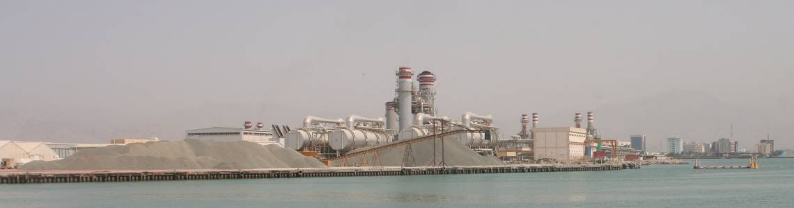 Desalination plant in RAK (Ras Al Khaimah, United Arab Emirates)