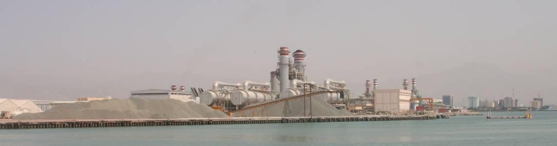 Desalination plant in RAK (Ras Al Khaimah, United Arab Emirates)