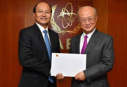 The new Resident Representative of Viet Nam to the IAEA, Le Dung, presented his credentials to IAEA Director General Yukiya Amano at the IAEA headquarters in Vienna, Austria, on 9 January 2018.