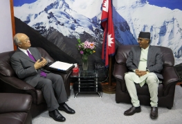 IAEA Director General Yukiya Amano met with Rt. Hon'ble Prime Minister of Nepal Sher Bahadur Deuba during his official visit to Nepal. 5 July 2017.