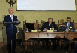 IAEA Director General Yukiya Amano speaking at the 20th Amaldi Conference, at the Accademia Nazionale dei Lincei, Rome, Italy. 9 October 2017