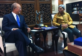 IAEA Director General Yukiya Amano met with Abdurrahman Mohammad Fachir, Vice Minister of Foreign Affairs, during his official visit to Indonesia. 5 February 2018