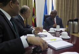 IAEA Director General Yukiya Amano meets with Prime Minister, Dr Ruhakana Rugunda, during his official visit to Uganda. 18 January 2018