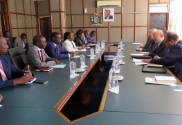 IAEA Director General Yukiya Amano met with Mr Joel Malanjii, Minister of Foreign Affairs, during his official visit to Zambia. 22 January 2018