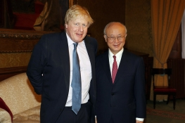 IAEA Director General Yukiya Amano met with Boris Johnson, Secretary of State for Foreign and Commonwealth Affairs during his official visit to the UK. 22 February 2017