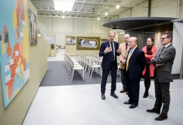 IAEA Director General Yukiya Amano tours the Underground Research Facility (HADES), during his official visit to Belgium. 21 March 2018.