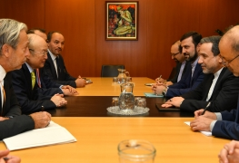IAEA Director General Yukiya Amano met with Abbas Araghchi, Deputy Foreign Minister of the Islamic Republic of Iran at IAEA headquarters in Vienna, Austria on 28 January 2019.