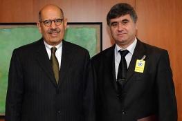 Presentation of credentials of the new Resident Representative of Albania, H.E. Ambassador Gilbert Galanxhi, to IAEA Director General Mohamed ElBaradei, IAEA, Vienna, Austria, 9 January 2008.