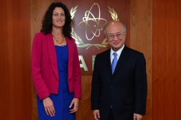 Presentation of credentials by the new Resident Representative of New Zealand, H.E. Ms. Deborah Geels to IAEA Director General Yukiya Amano. IAEA, Vienna, Austria, 28 February 2013