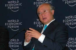 IAEA Director General Yukiya Amano participates at a discussion during the Global Energy Outlook Session at the World Economic Forum 2012 at Davos, Switzerland. 27-28 January 2012.