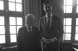 IAEA Director General Yukiya Amano meets with Prime Minister Mark Rutte during his official visit to the Netherlands. 18 April 2013
