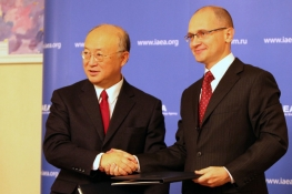 IAEA Director General Yukiya Amano Sergey Kirienko, Director General of Russia's Nuclear Energy State Corporation, ROSATOM, during his official visit to the Russian Federation, 25 October 2010.