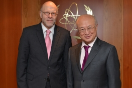 On 22 January 2014, HE Mr Harald Braun, State Secretary, Federal Foreign Office of Germany met IAEA Director General Yukiya Amano during his visit to the IAEA headquarters in Vienna, Austria.