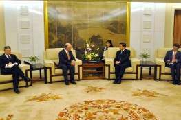 IAEA Director General Yukiya Amano met with Deputy Foreign Minister Zhang Yesui during his official visit to China. 15 October 2014