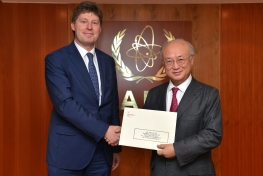 Presentation of credentials by the new Resident Representative of Poland, Mr Adam Bugajski to IAEA Director General Yukiya Amano. Vienna, Austria, 4 February 2015