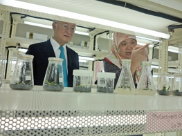 IAEA Director General Yukiya Amano tours the Brunei Agricultural Research Centre during his official visit to Brunei. 29 January 2015