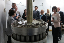 IAEA Director General Yukiya Amano tours the Ruđer Bošković Institute during his official visit to Zagreb, Croatia on 19 May 2015.