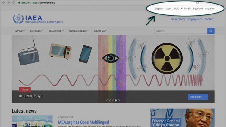 IAEA org has Gone Multilingual | IAEA