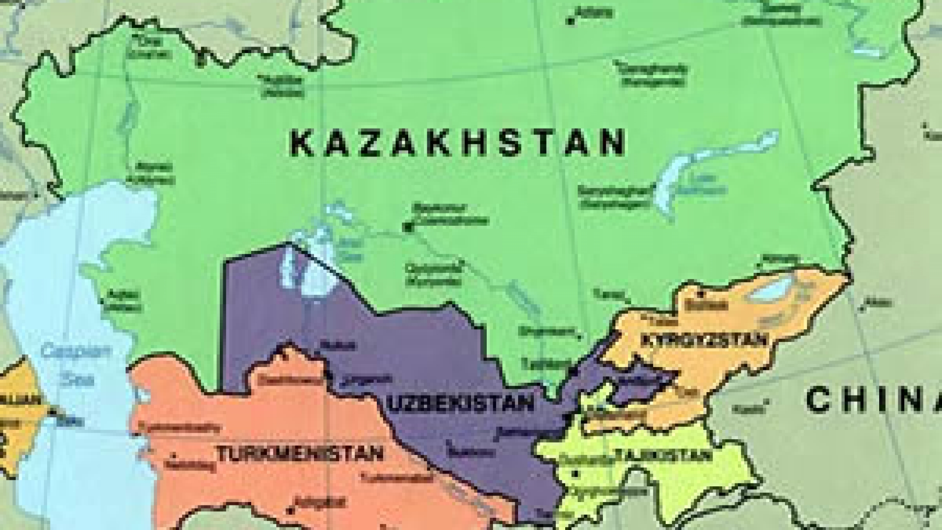 Map Of Asia Kyrgyzstan.Nuclear Weapon Free Zone In Central Asia Iaea
