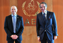 Rafael Mariano Grossi, IAEA Director General, met with Patrick Fragman, President & CEO of Westinghouse Electric Company, during his official visit at the Agency headquarters in Vienna, Austria. 25 February 2021