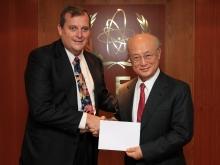 The new Resident Representative of Belize, Joel M. Nagel, presented his credentials to IAEA Director General Yukiya Amano in Vienna, Austria, on 2 November 2016.