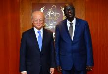 The new Resident Representative of Chad, Mahamat Abdoulaye Senoussi, presented his credentials to IAEA Director General Yukiya Amano in Vienna, Austria, on 4 May 2016.
