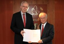 The new Resident Representative of Switzerland, Rolf Stalder, presented his credentials to IAEA Director General Yukiya Amano in Vienna, Austria, on 6 May 2016.