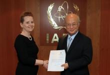 The new Resident Representative of Iceland, Gréta Gunnarsdóttir, presented her credentials to IAEA Director General Yukiya Amano in Vienna, Austria, on 18 August 2016.