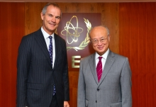 The new Resident Representative of the United Kingdom, Leigh Turner, presented his credentials to IAEA Director General Yukiya Amano in Vienna, Austria, on 1 September 2016.