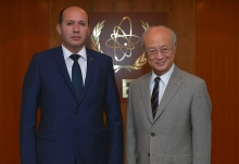 The new Resident Representative of Turkmenistan, Silapberdi Nurberdiev, presented his credentials to IAEA Director General Yukiya Amano in Vienna, Austria, on 23 September 2016.