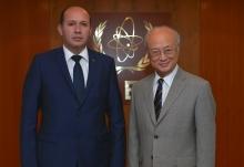 The new Resident Representative of Turkmenistan, Silapberdi Nurberdiev, presented his credentials to IAEA Director General Yukiya Amano in Vienna, Austria, on 23 September 2016.