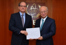 The new Resident Representative of Brazil, Marcel Fortuna Biato, presented his credentials to IAEA Director General Yukiya Amano at the IAEA headquarters in Vienna, Austria on 30 November 2016.