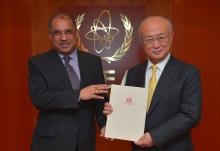 The new Resident Representative of Nepal, Prakash Kumar Suwedi, presented his credentials to IAEA Director General Yukiya Amano at the IAEA headquarters in Vienna, Austria on 20 January 2017.