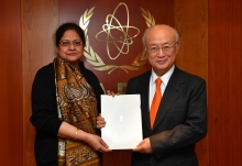 The new Resident Representative of India, Renu Pall, presented her credentials to IAEA Director General Yukiya Amano at the IAEA headquarters in Vienna, Austria on 3 February 2017.