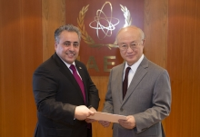 The new Resident Representative of Qatar, Sheikh Ali Bin Jassim Al-Thani, presented his credentials to IAEA Director General Yukiya Amano at the IAEA headquarters in Vienna, Austria on 16 February 2017.