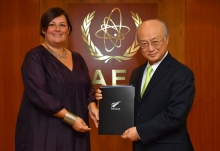 The new Resident Representative of New Zealand, Nicole Jocelyn Roberton, presented her credentials to IAEA Director General Yukiya Amano at the IAEA headquarters in Vienna, Austria on 7 March 2017.