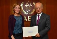 The new Resident Representative of Serbia, Roksanda Nincic, presented her credentials to IAEA Director General Yukiya Amano at the IAEA headquarters in Vienna, Austria on 21 April  Photo Credit: Dean Calma / IAEA