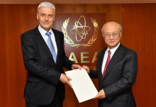The new Resident Representative of Lithuania, Aurimas Taurantas, presented his credentials to IAEA Director General Yukiya Amano at the IAEA headquarters in Vienna, Austria on 3 May 2017