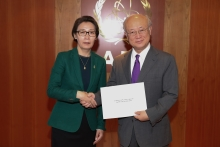 The new Resident Representative of Mongolia, Battungalag Gankhuurai, presented her credentials to IAEA Director General Yukiya Amano at the IAEA headquarters in Vienna, Austria on 19 May 2017