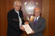 The new Resident Representative of Bolivia, Víctor Veltzé Michel, presented his credentials to IAEA Director General Yukiya Amano at the IAEA headquarters in Vienna, Austria on 19 May 2017