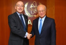 The new Resident Representative of the United Kingdom, David Hall, presented his credentials to IAEA Director General Yukiya Amano at the IAEA headquarters in Vienna, Austria on 1 August 2017