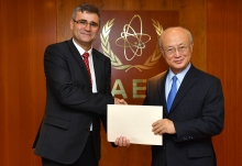 The new Resident Representative of Slovakia to the IAEA, Peter Mišík, presented his credentials to IAEA Director General Yukiya Amano at the IAEA headquarters  in Vienna, Austria, on 7 September 2017.