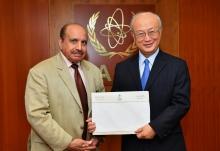 The new Resident Representative of the Kingdom of Saudi Arabia to the IAEA, Khalid Ibrahim Mohammed Jindan, presented his credentials to IAEA Director General Yukiya Amano at the IAEA headquarters in Vienna, Austria, on 7 September 2017.
