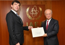 The new Resident Representative of Latvia to the IAEA, Jānis Zlamets, presented his credentials to IAEA Director General Yukiya Amano at the IAEA headquarters  in Vienna, Austria, on 16 October 2017.