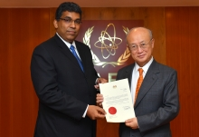 The new Resident Representative of Malaysia to the IAEA, Dato' Ganeson Sivagurunathan, presented his credentials to IAEA Director General Yukiya Amano at the IAEA headquarters in Vienna, Austria, on 20 February 2018.